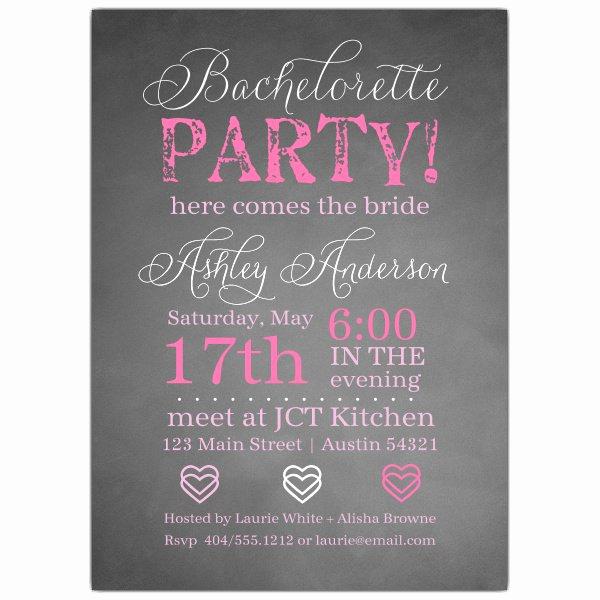 Bachelorette Party Invitation Templates Best Of Chalkie Bachelorette Invitations