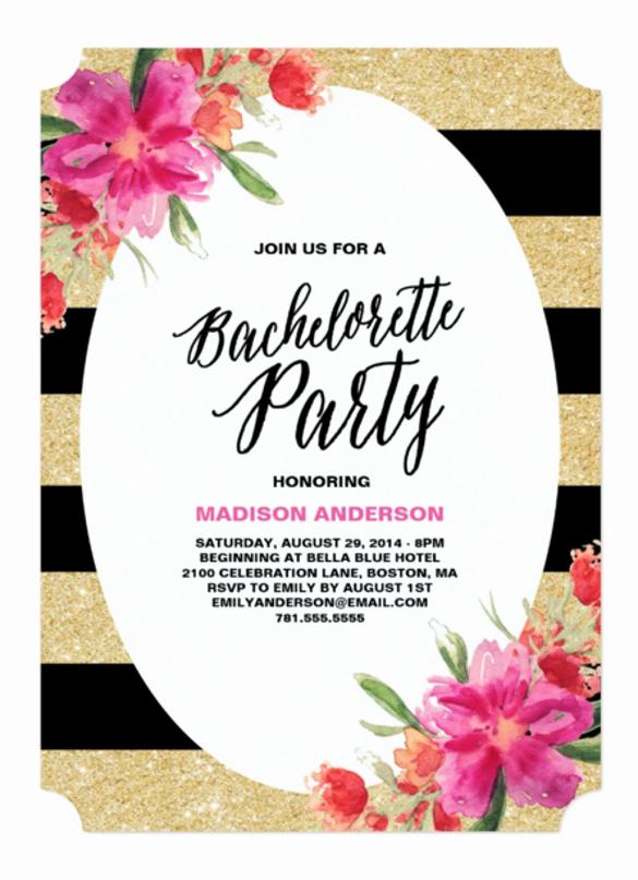 Bachelorette Party Invitation Templates Fresh 32 Bachelorette Invitation Templates Psd Ai Word