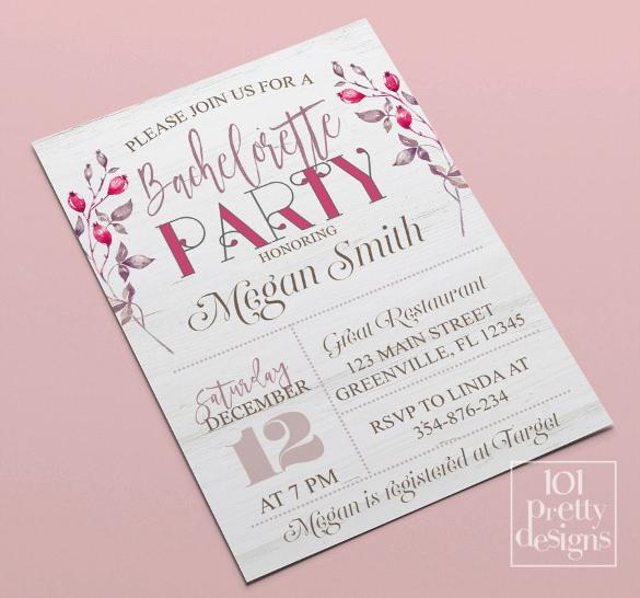 Bachelorette Party Invitation Templates Inspirational 32 Bachelorette Invitation Templates Psd Ai Word