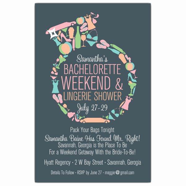 Bachelorette Party Invitation Templates Inspirational Diamond Ring Bachelorette Invitations