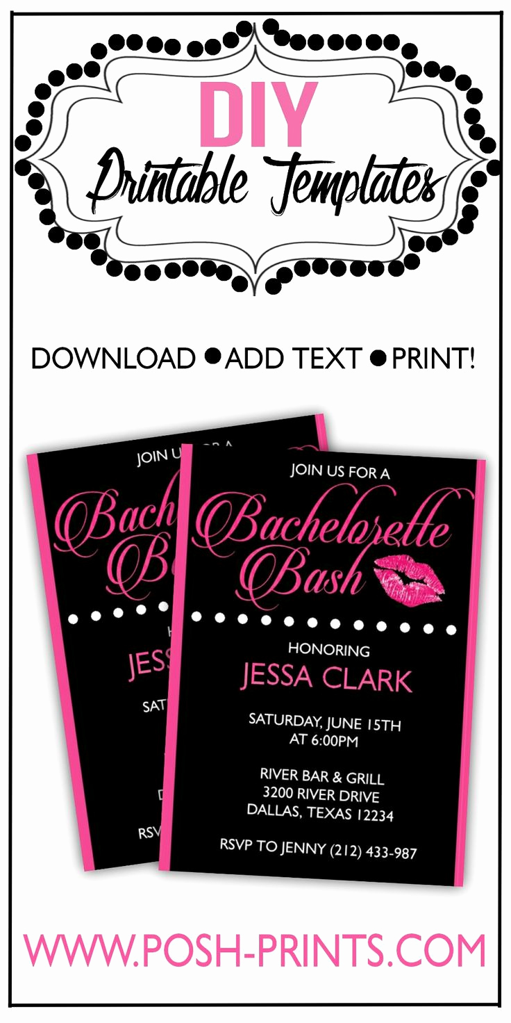 Bachelorette Party Invitation Templates Inspirational Printable Bachelorette Party Invitation Download Edit