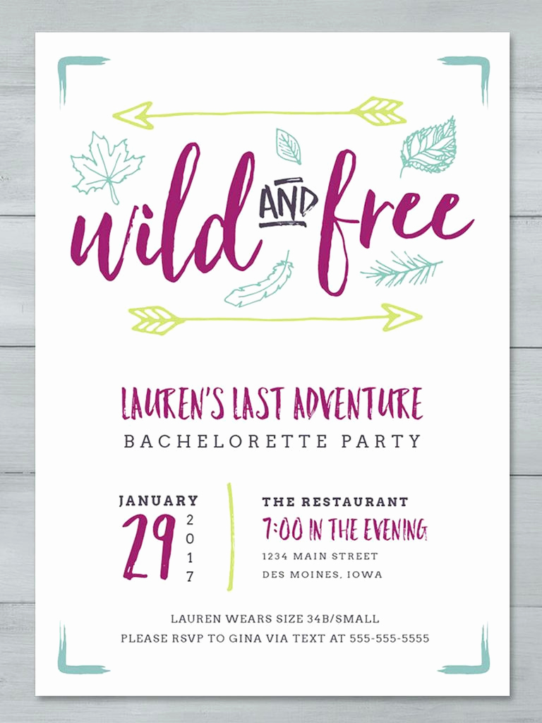 Bachelorette Party Invitation Templates Lovely 14 Printable Bachelorette Party Invitation Templates