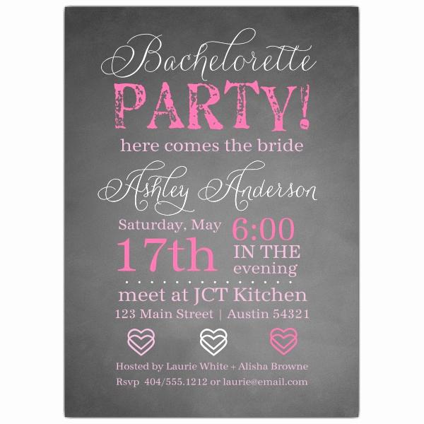 Bachelorette Party Invitation Templates Luxury Chalkie Bachelorette Invitations