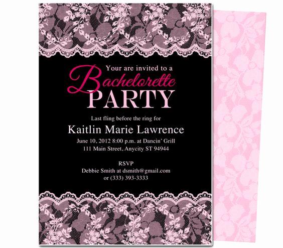 Bachelorette Party Invitation Templates Luxury Printable Diy Bachelorette Party Invitations Boudoir
