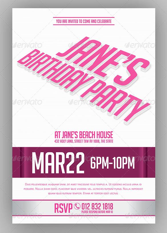 Bachelorette Party Invitation Templates New 41 Bachelorette Invitation Templates Psd Ai