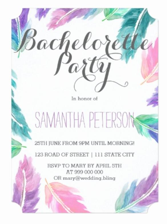 Bachelorette Party Invitation Templates Unique 32 Bachelorette Invitation Templates Psd Ai Word
