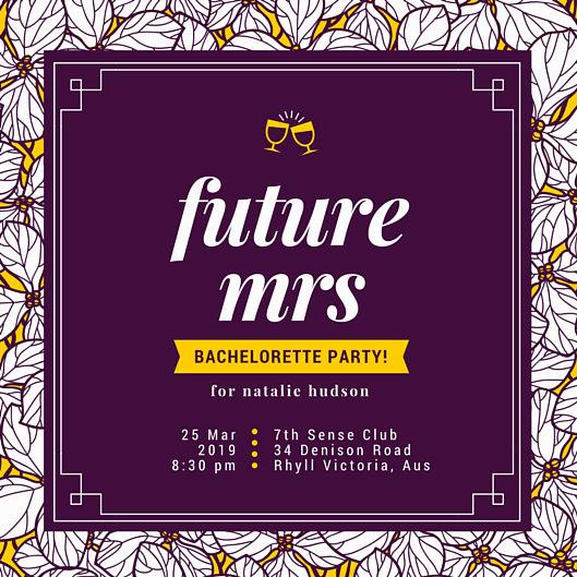 Bachelorette Party Invitation Templates Unique Bachelorette Party Invitation Templates Canva