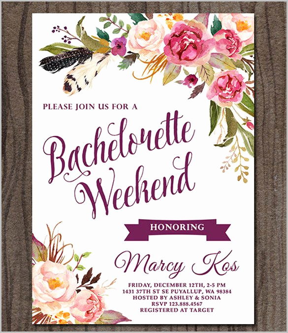 Bachelorette Party Invitation Wording Beautiful Bachelorette Party Invitation Templates Free Download
