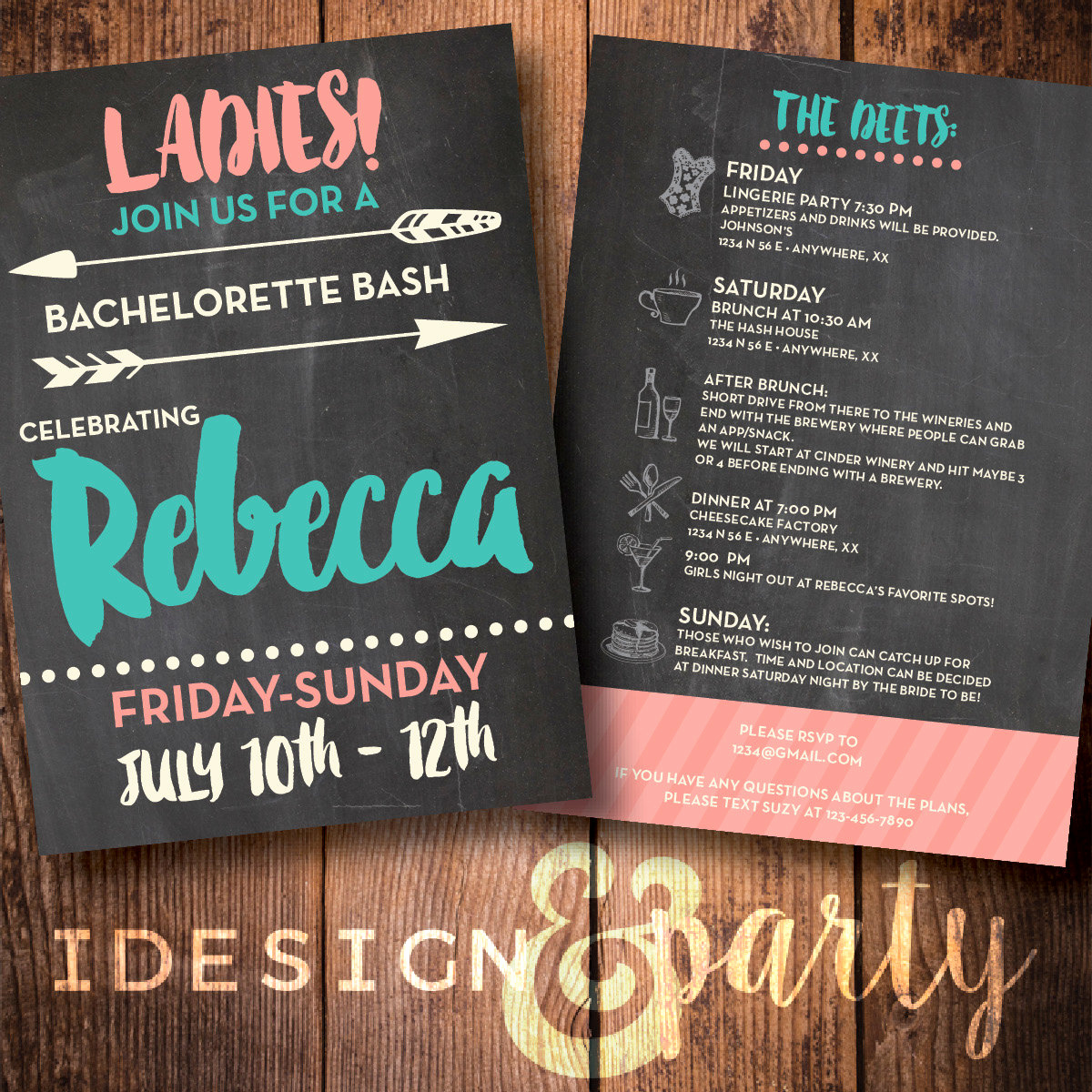 Bachelorette Party Invitation Wording Elegant Bachelorette Party Invite Weekend Bash