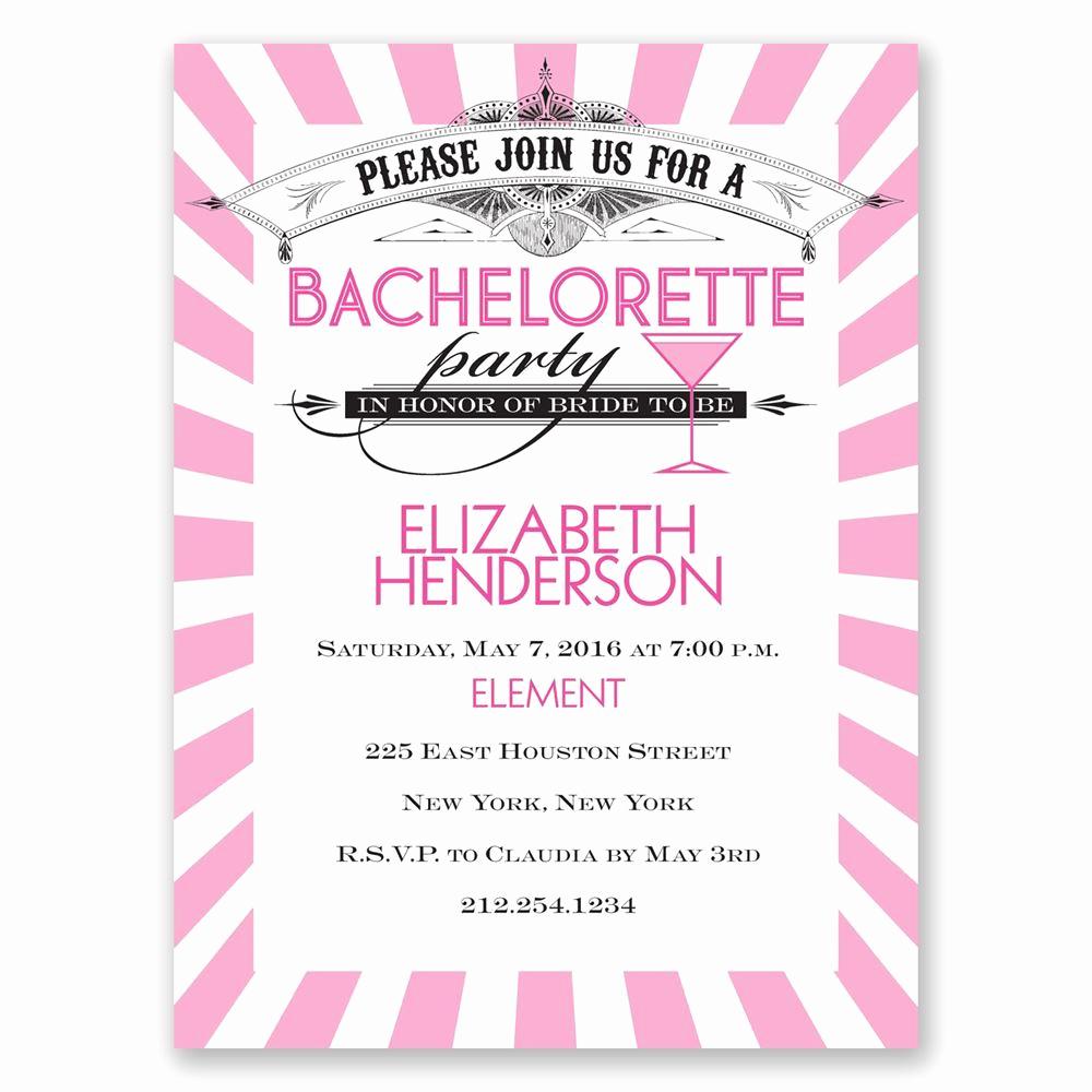 Bachelorette Party Invitation Wording Elegant Join the Party Bachelorette Party Invitation