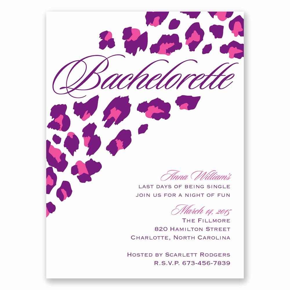Bachelorette Party Invitation Wording Elegant Wild Style Bachelorette Party Invitation
