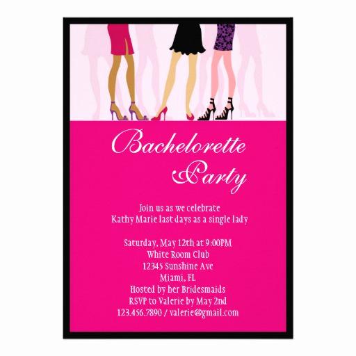 "Bachelorette Party Invitation Wording Fresh Girls Bachelorette Party Invitation 5"" X 7"" Invitation"