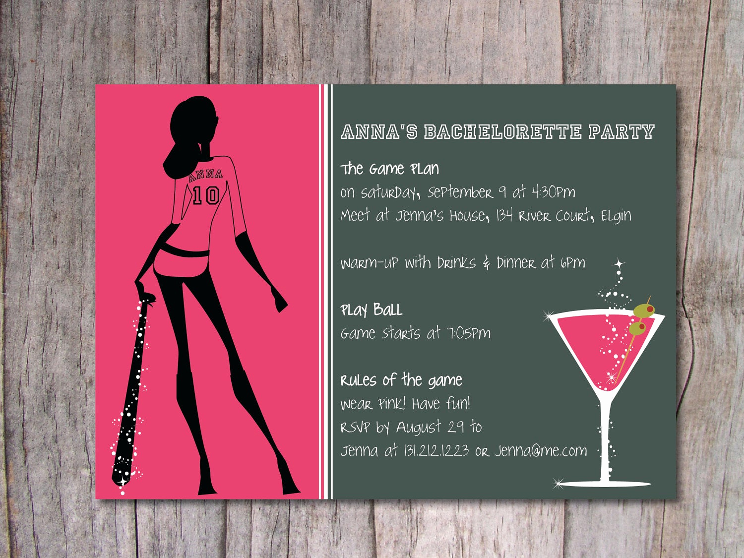 Bachelorette Party Invitation Wording Lovely Baseball Bachelorette Party Invitation by Pinch Spice On Etsy