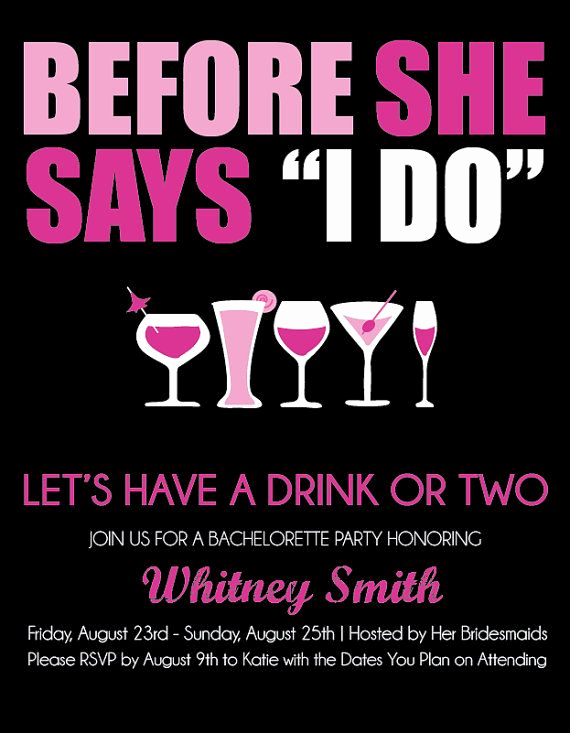 Bachelorette Party Invitation Wording Luxury Bachelorette Party Invite