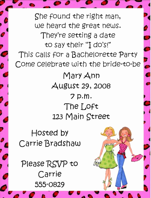 Bachelorette Party Invitation Wording New Girls Night Invitation Wording