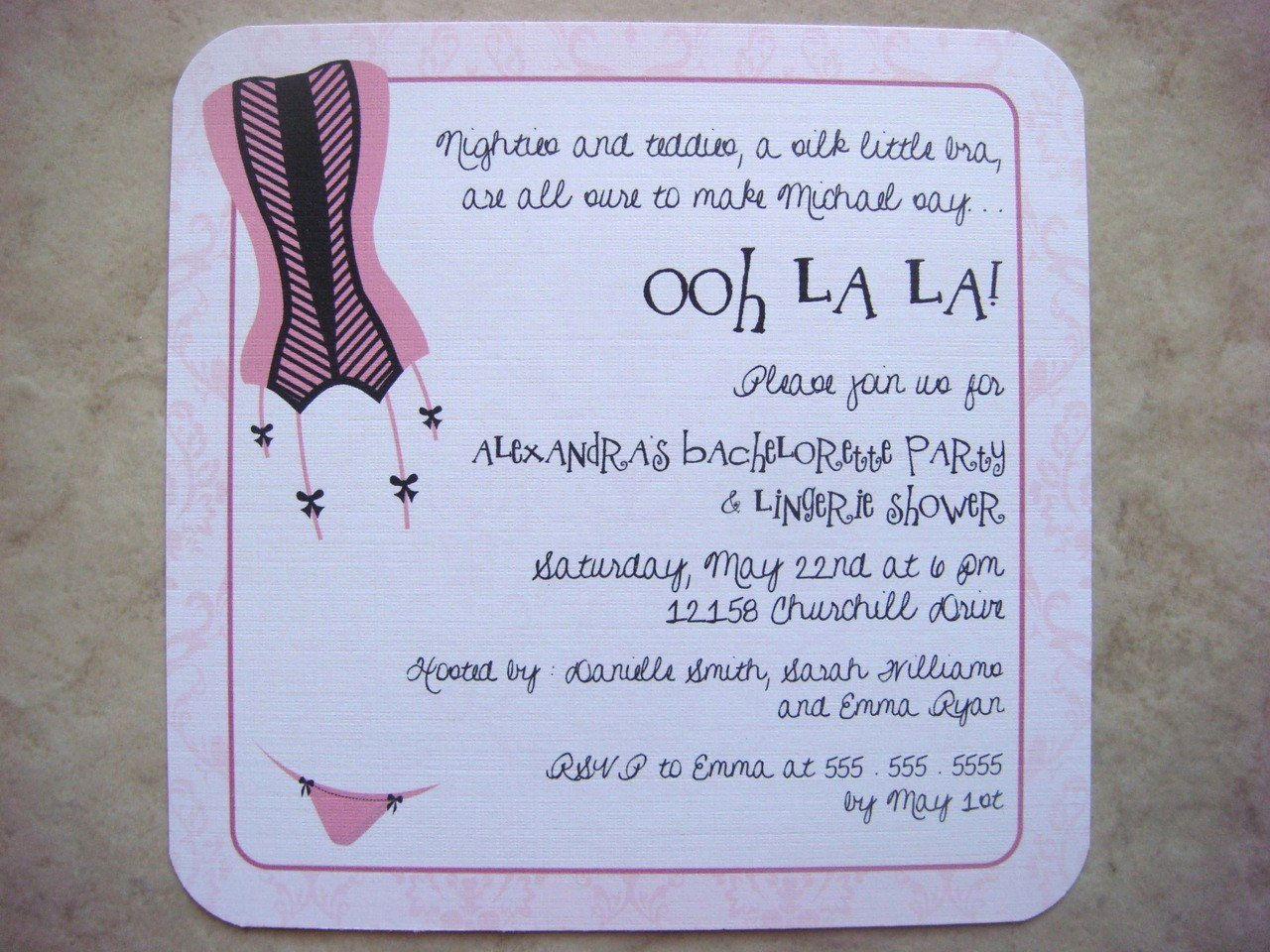 Bachelorette Party Invitation Wording New Items Similar to Ooh La La Bachelorette Party Invitations