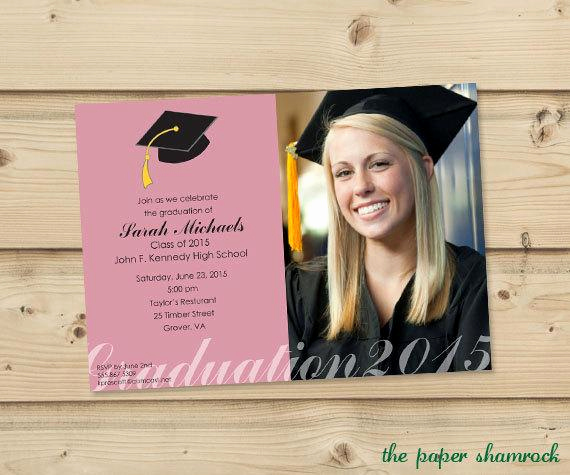 Back Of Graduation Invitation Awesome Items Similar to Graduation Invitation High School