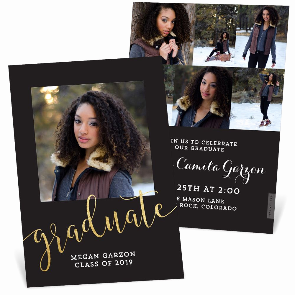 Back Of Graduation Invitation Luxury A Shining Star Foil Graduation Announcements