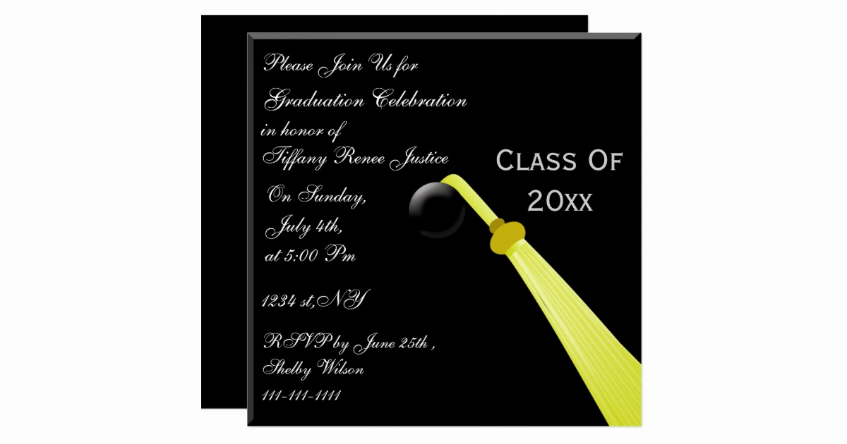 Back Of Graduation Invitation Luxury Graduation Hat Back Graduation Party Invitation