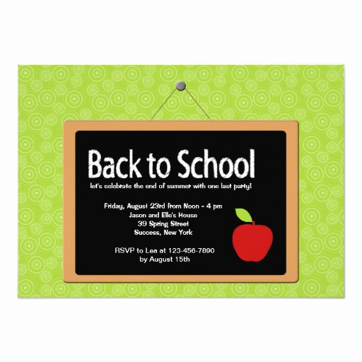 Back to School Invitation Beautiful Back to School Blackboard Invitation