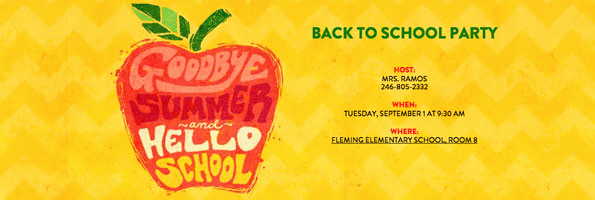 Back to School Invitation Beautiful Back to School Party Evite