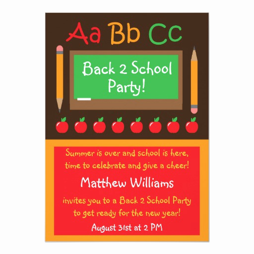 Back to School Invitation Beautiful Back to School Party Invitation