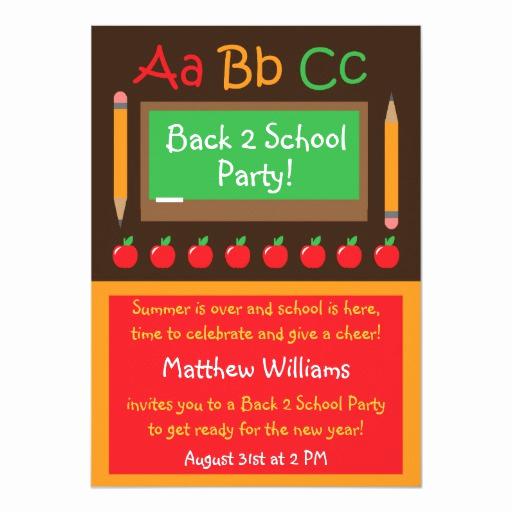 Back to School Invitation Beautiful Back to School Party Invitation