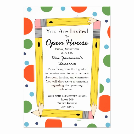 "Back to School Invitation Fresh Back to School Open House Invitation 5"" X 7"" Invitation"