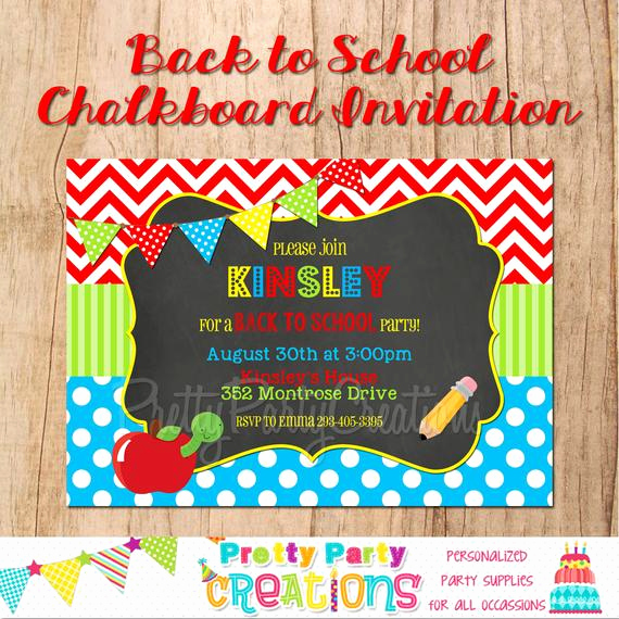 Back to School Invitation Inspirational Back to School Chalkboard Party Invitation You Pint