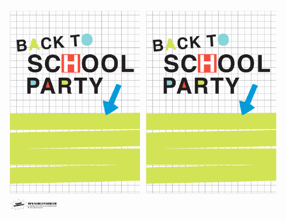 Back to School Invitation Lovely Neon Back to School Party Invitations Paging Supermom