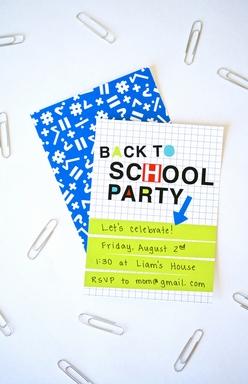 Back to School Invitation Lovely Neon Back to School Party Invite Paging Supermom