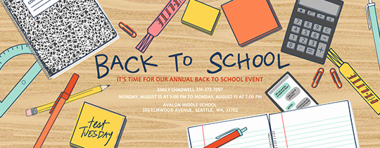Back to School Invitation Unique Back to School Free Online Invitations