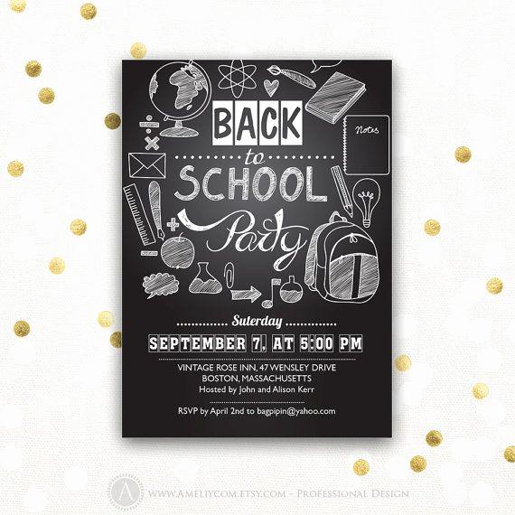 Back to School Invitation Unique Back to School Invitation Back to School Party Printable
