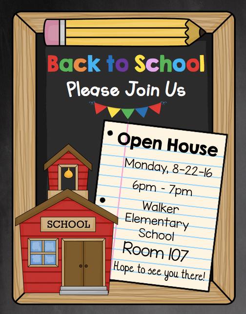 Back to School Night Invitation Elegant Open House Invitation Editable Back to School Meet