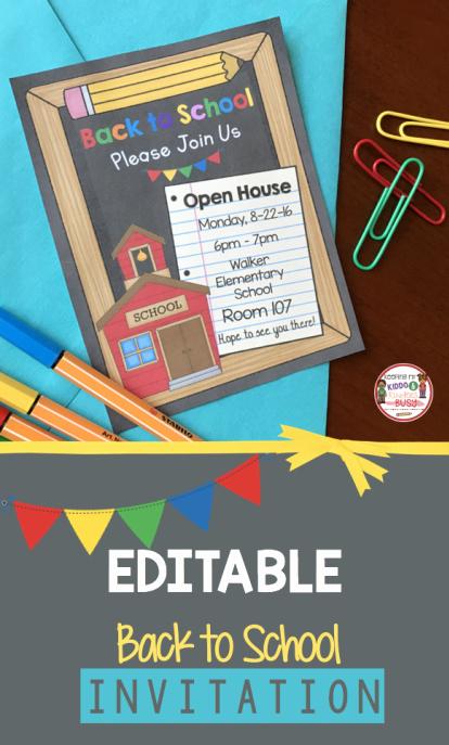 Back to School Night Invitation Inspirational Editable Back to School Open House Meet the Teacher