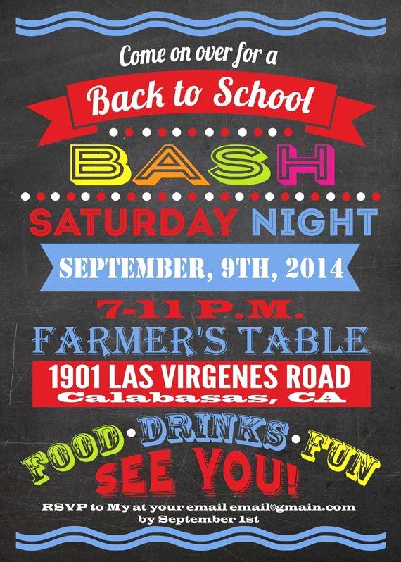 Back to School Night Invitation Inspirational School Party
