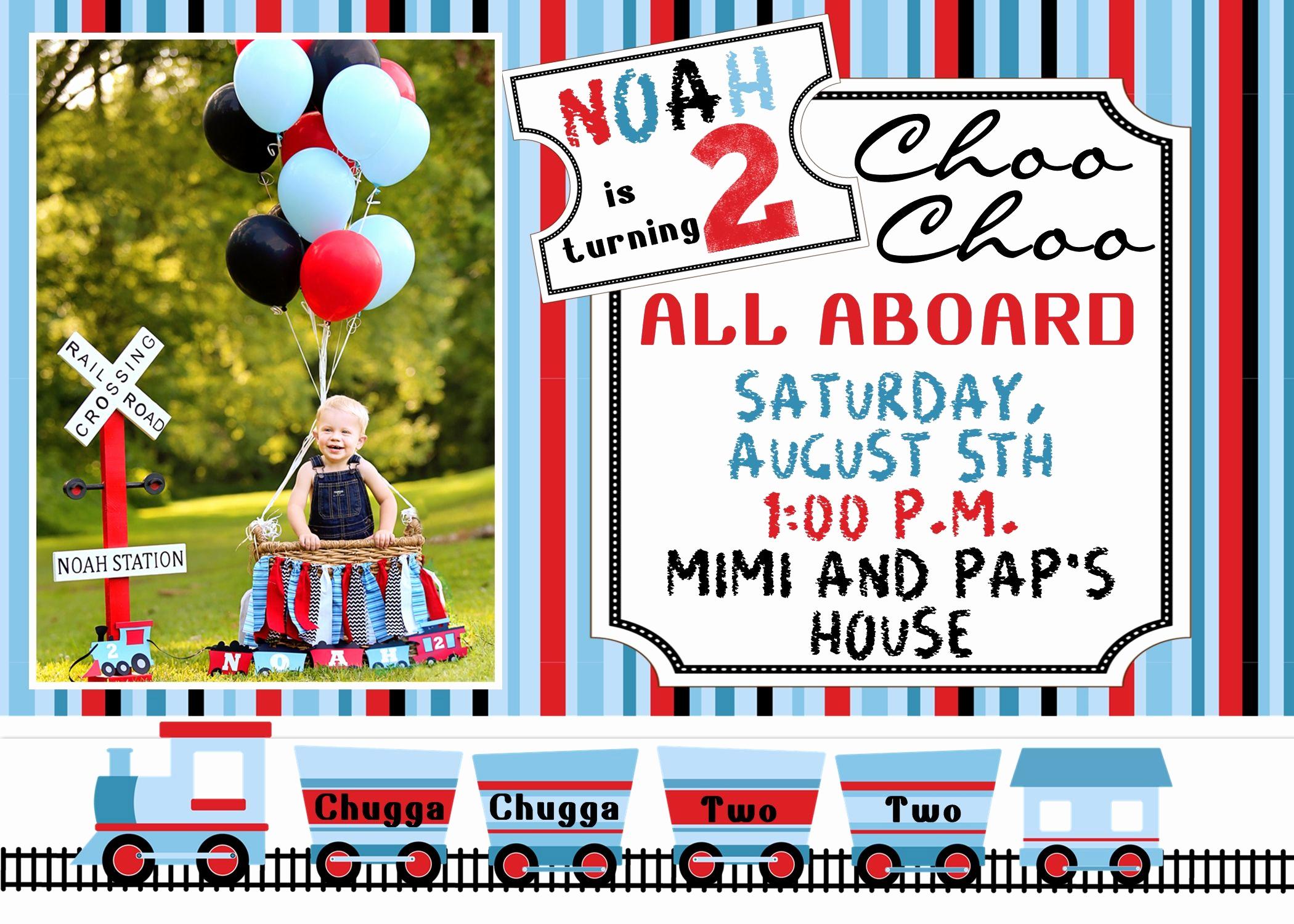 Back to School Night Invitation New Chugga Chugga Two Two All Aboard the Choo Choo Train