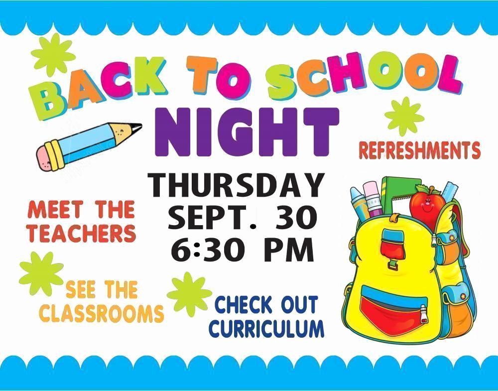 Back to School Night Invitation New Make A School event Poster