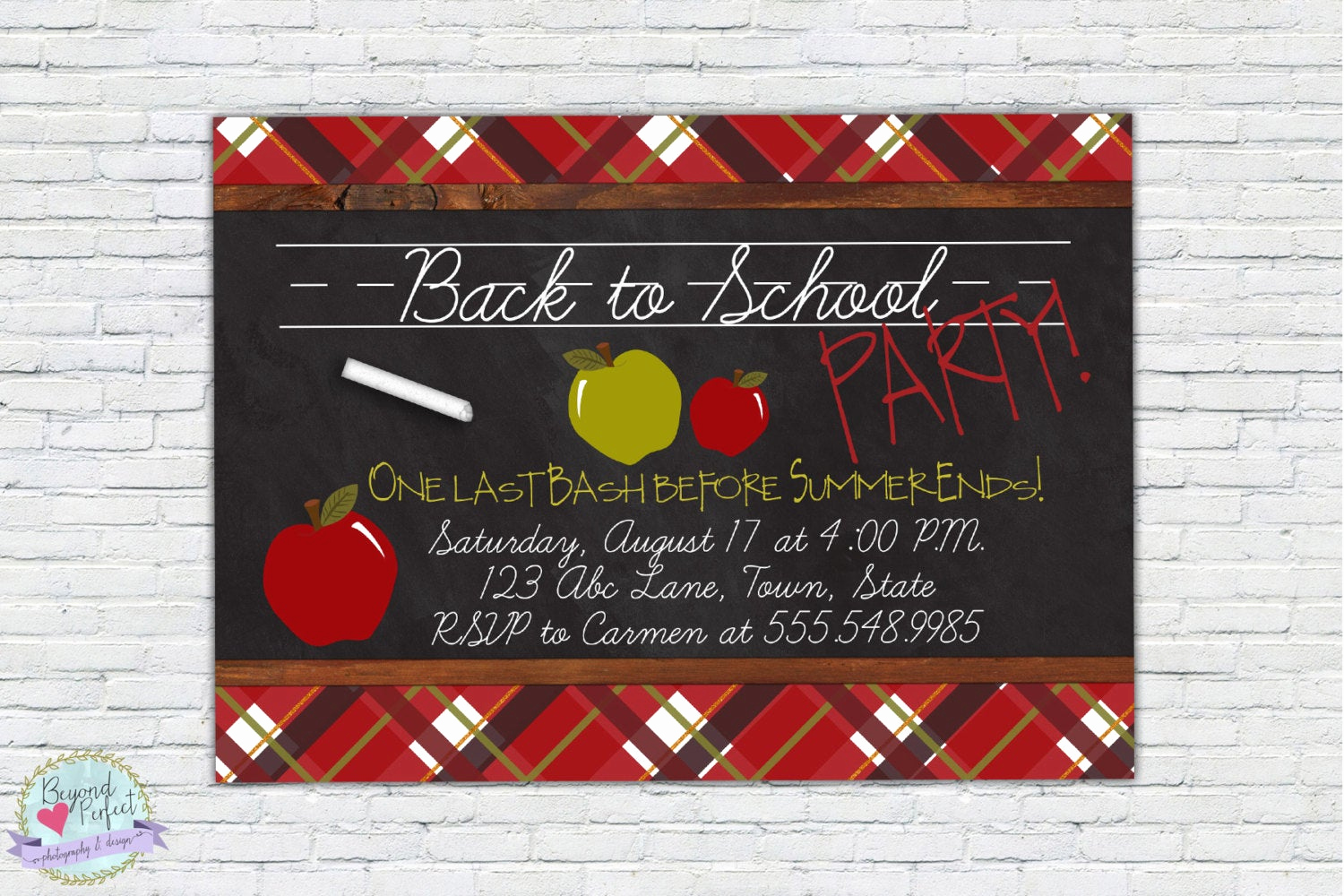 Back to School Party Invitation Awesome Back to School Party Last Summer Bash Party Invitation School