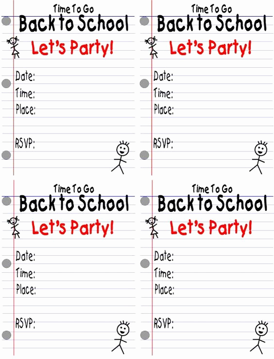 Back to School Party Invitation Awesome School Parties Back to School and Back to On Pinterest