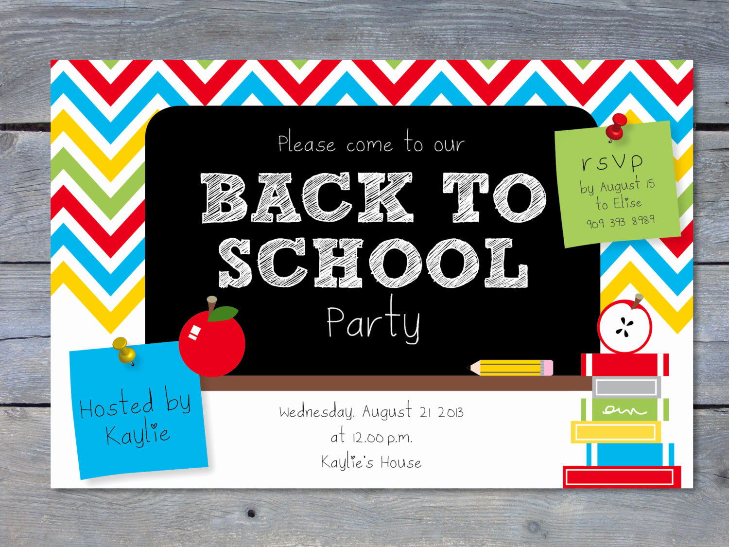Back to School Party Invitation Best Of Back to School Party Printable Invitation Personalized