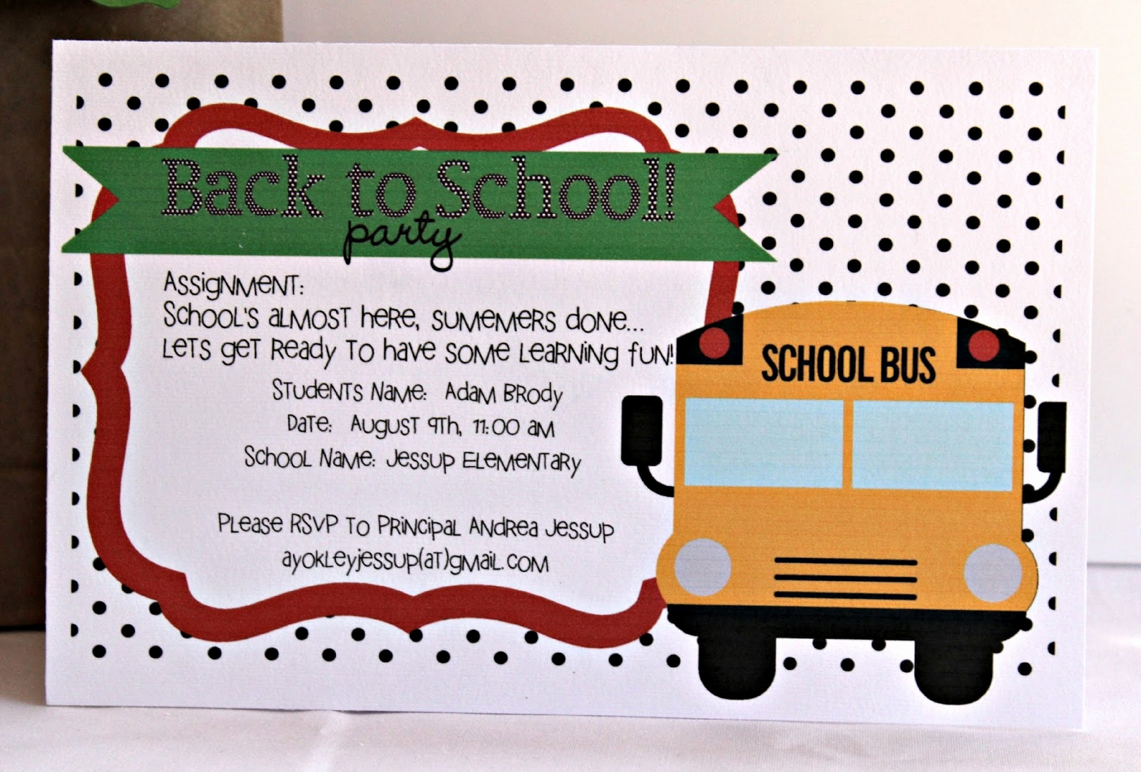 Back to School Party Invitation Best Of Kutz Paper Scissors Back to School Party Invite