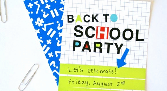 Back to School Party Invitation New Neon Back to School Party Free Printable Invitation at