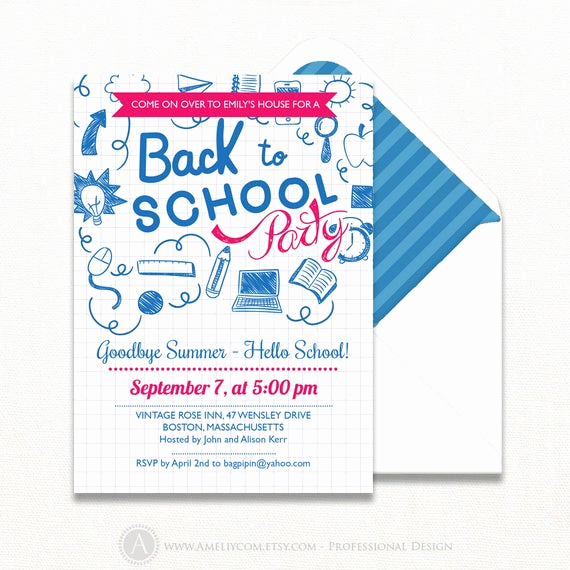 Back to School Party Invitation New Printable Back to School Party Invitation Back to School