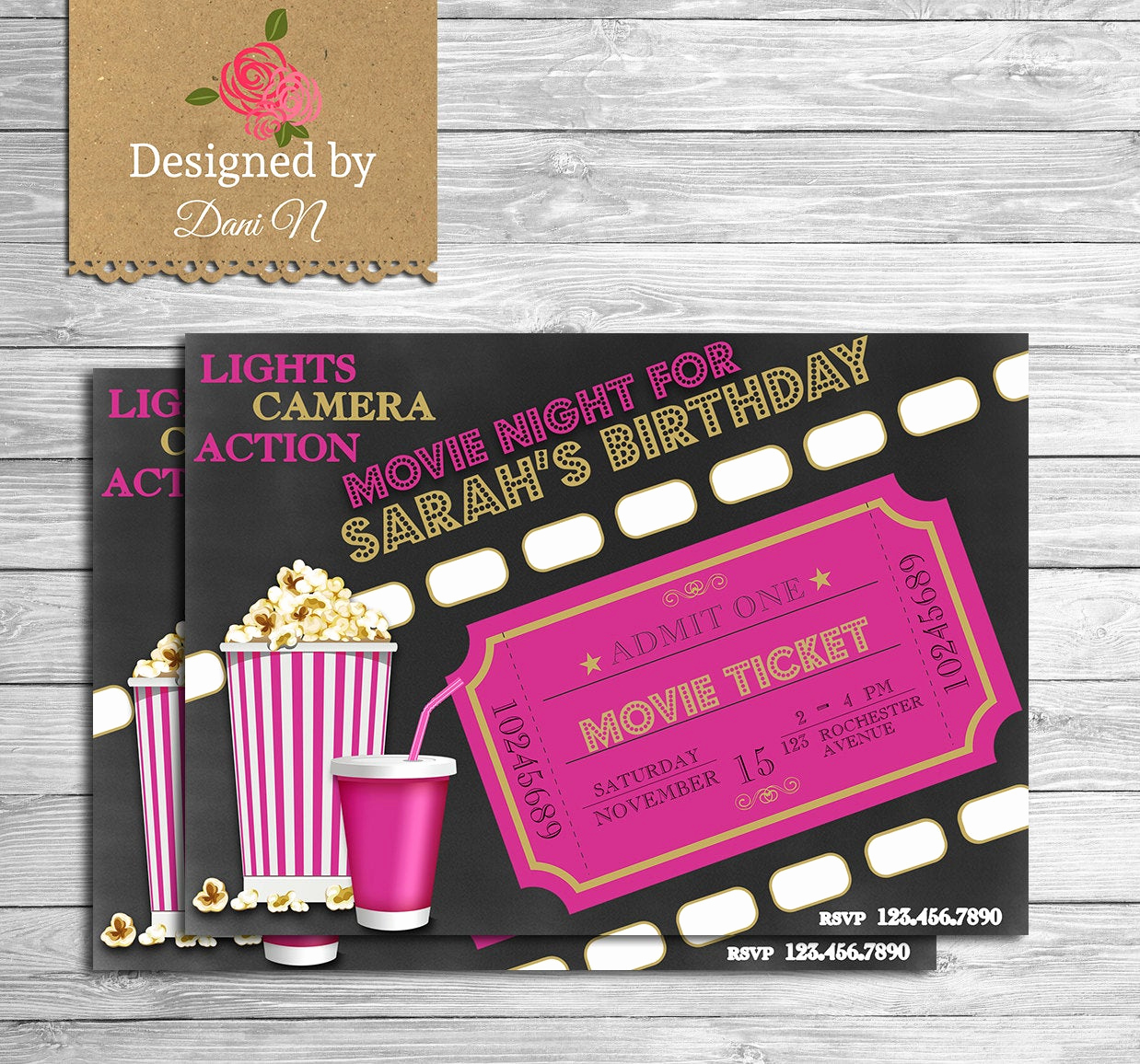 Backyard Movie Night Invitation Awesome Movie Birthday Invitation Movie Night Party Invite Outdoor