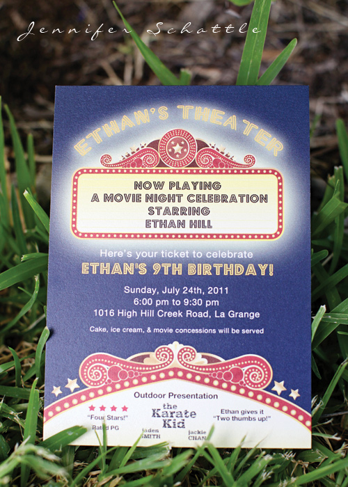 Backyard Movie Night Invitation Best Of Kara S Party Ideas Night at the Movies Birthday Party