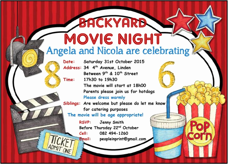 Backyard Movie Night Invitation Inspirational 90 Best Images About Invitations On Pinterest