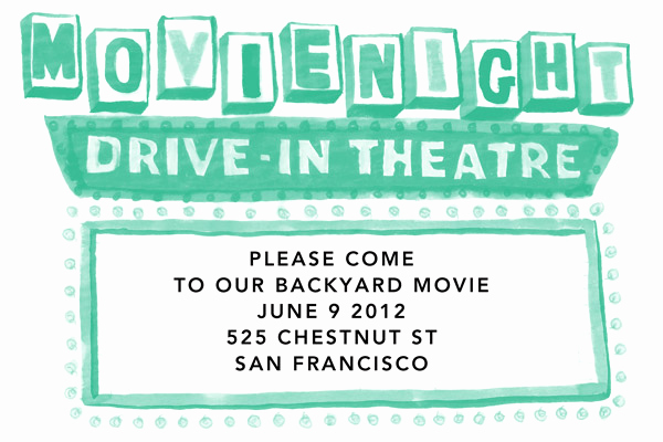 Backyard Movie Night Invitation Lovely Backyard Movie Night Invitations