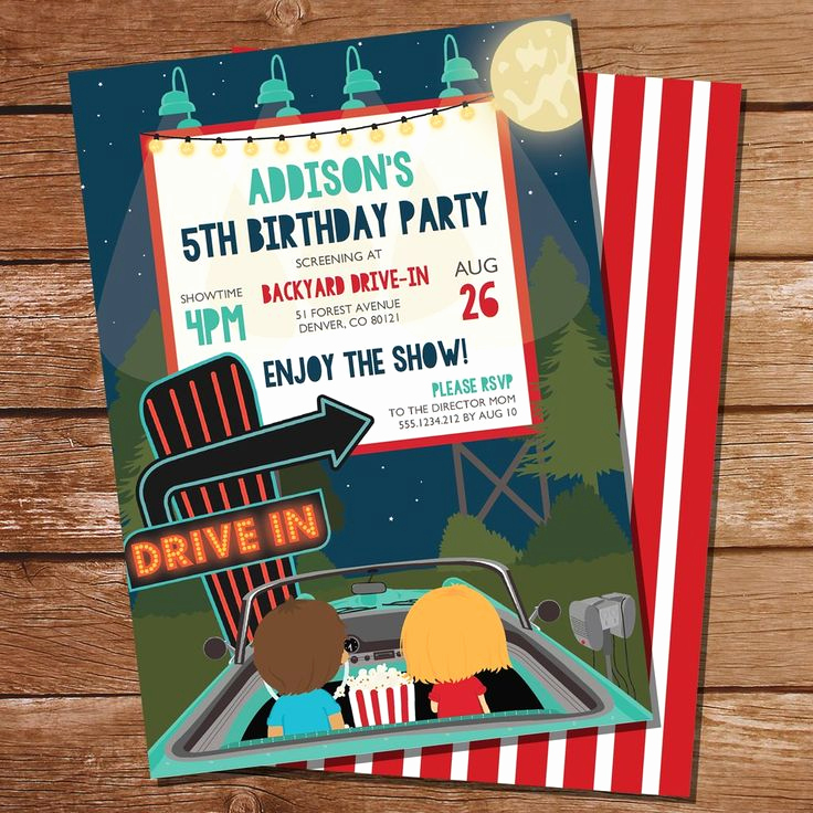 Backyard Movie Night Invitation Lovely Best 25 Movie Party Invitations Ideas On Pinterest