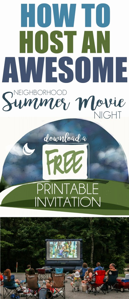 Backyard Movie Night Invitation New Host A Neighborhood Outdoor Movie Night Free Printable